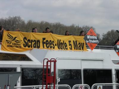 Scrap Fees banner and Winning for Students diamond