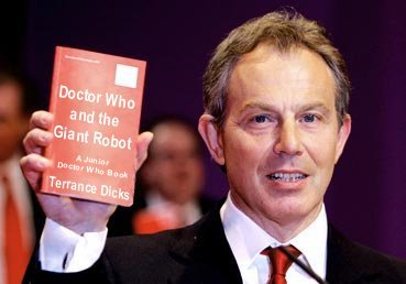 Tony Blair and Doctor Who and the Giant Robot